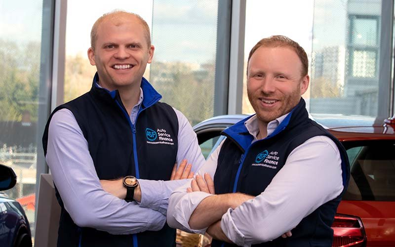 Jack Allman (left) and James Jackson (right) of Auto Service Finance