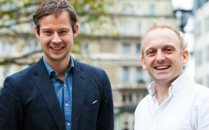 Co-founders Ben Stanway, left, and Charlie Mortimer