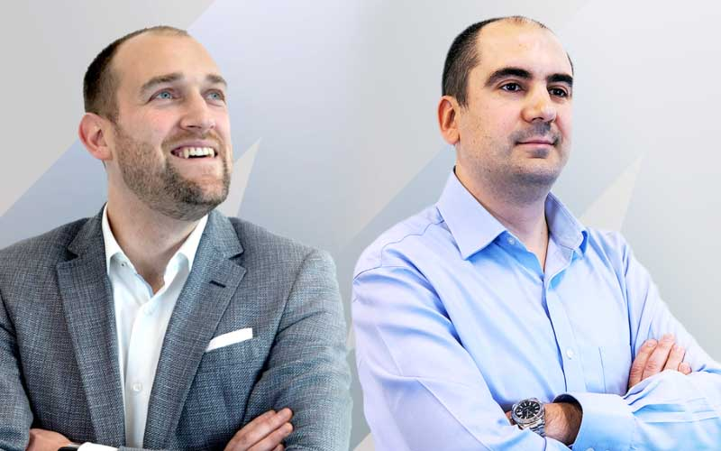 (L-R) Co-founders Andy Rogers and Vlad Nanu