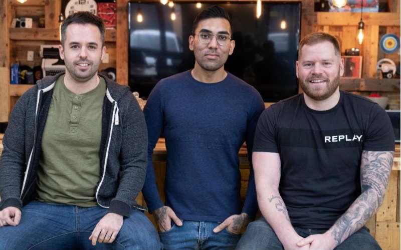 (l-r) Co-founders David Chamberlain, Joey Xoto and Jamie Garside