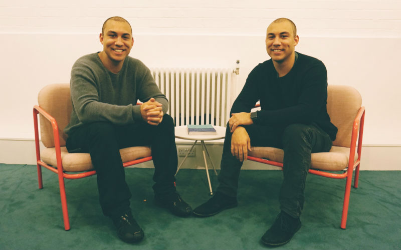 Identical twins Alexander and Oliver Kent-Braham, co-founders of Marshmallow