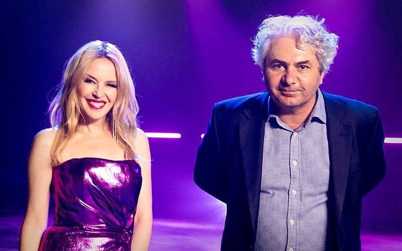 Kylie Minogue and ROXi CEO Rob Lewis