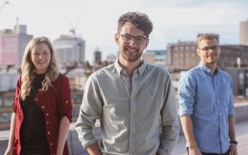 Estendio Leadership Team - Cara Hunt, Chris Hughes CEO, Euan Colley (1)