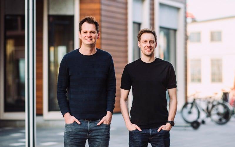 MihkelAamer, left, with fellow Lightyear co-founder Martin Sokk