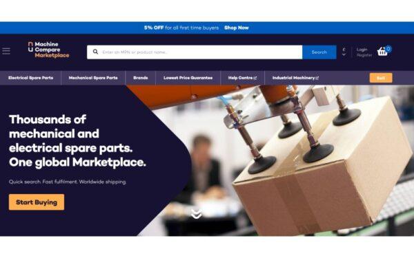 Machine Compare Marketplace Homepage