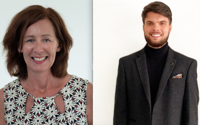 New hires Alison Schmidand Charlie Brooks