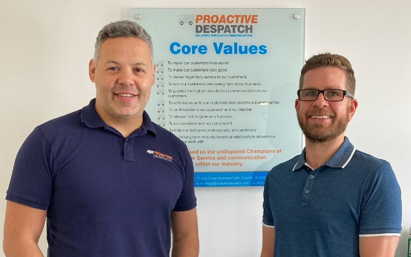 (l-r) Proactive Despatch operations director Craig Hyland and Roy Graham